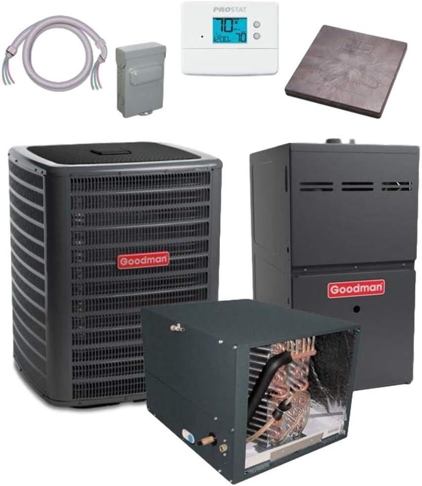 Soldering Goodman 3 TON 17.5 SEER CHPF4 GSXC180361 Air Conditioner Popular brand bundle