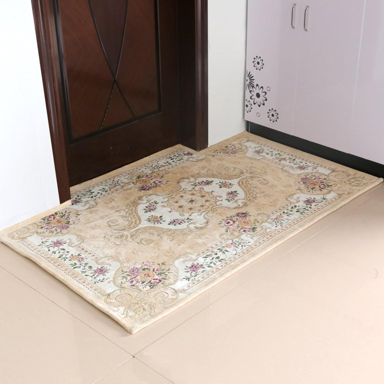 European-Style Entrance Door mats doormats Household Living Room Floor mats-I 90x140cm(35x55inch)