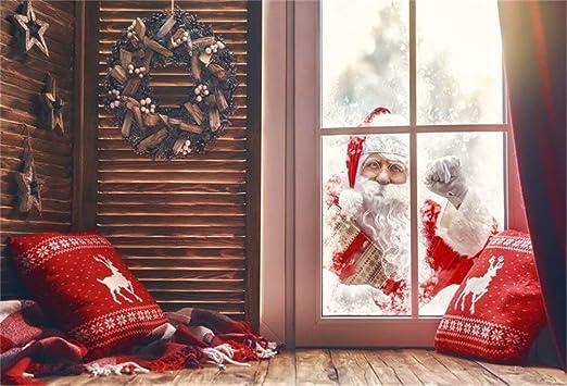 Feliz Nochebuena Photo Studio Tel/ón de Fondo /Árboles de Navidad Chimenea Decoraci/ón Arco Stocking Fondos para fotograf/ía de Pared de Piso de Madera Fondo de decoraci/ón de Fiesta de Fondo de Estudio