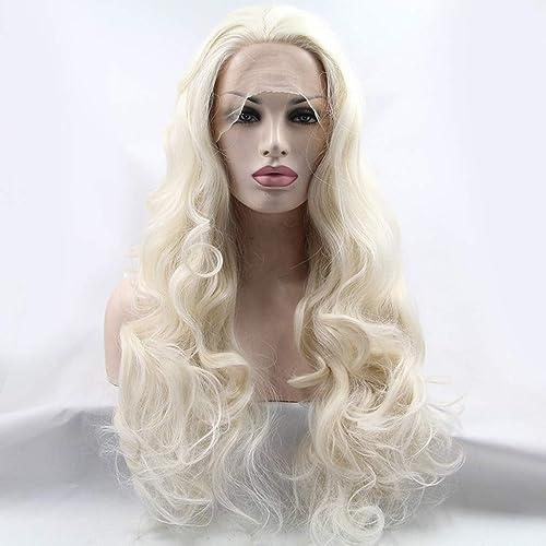 HQQ Perruques de Cheveux synthétiques, Perruques ondulées Longues et frisées Blondes - Perruque pour Femmes HalFaibleeen Festival Party Cosplay Perruque