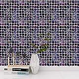 DHHY Mode Mosaïque Décoration Intérieure Stickers Muraux Salon Cuisine Étanche Et Résistant À l'huile Décoration Murale Autocollants Escaliers Autocollants 10 Pièces