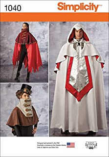 Simplicity Pattern 1040 Misses' and Men's Cape Costumes, Size XS-XL (A)