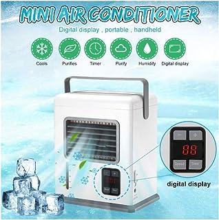 WW Aire Acondicionado portátil Recargable USB Mini refrigerador de Aire Pantalla Digital Ventilador de enfriamiento de Aire