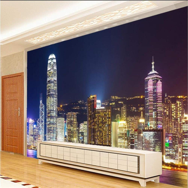 Precio por piso Pbldb Papel De De De Parojo 3D Mural Decoración Foto Telón De Fondo Fotográfico Mural Grande Noche De Hong Kong Restaurante Del Hotel Pintura De Parojo Murales-200X140Cm  compras en linea