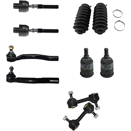 Complete 6pc Front Outer and Inner Tie Rod Ends w//Rack and Pinion Boots and Below Kit for 2008 2009 2010 2011 2012 Honda Accord Detroit Axle