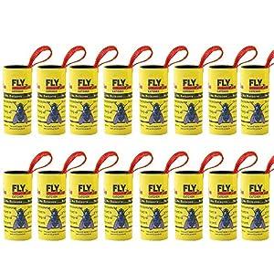 COOTA - Tiras de papel para moscas, atrapapolvas, 16 unidades de atrapasueños sin pesticidas para casa, uso en invernadero