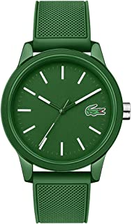 Lacoste Mens Quartz Watch, Analog Display and Silicone Strap 2010985 Green