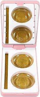 Lurrose Caso de Embalagens De Cílios LEVOU Caixa De Organização Dos Cílios Falsos Com Espelho Cosméticos Cílios Portador T...