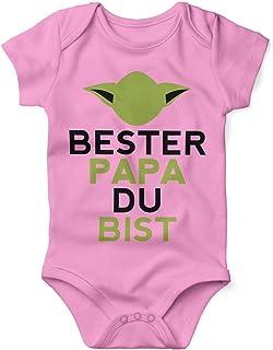 Mikalino Babybody mit Spruch für Jungen Mädchen Unisex kurzarm Bester Papa Du bist   handbedruckt in Deutschland   Handmade with love