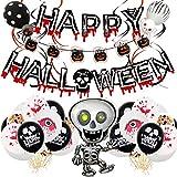 YiYa 46PCS Set di Palloncini di Halloween Palloncino in Film di Poliestere per Decorazioni per Feste di Halloween Haunted House Party Bar Decorato