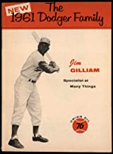 Baseball MLB 1961 Union Oil Family Booklets #8 Jim Gilliam small tear on top