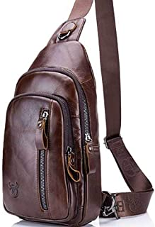 Business Backpack,Sling Bag, Leather Chest Bag,Crossbody,Shoulder Backpack,Outdoor Backpack