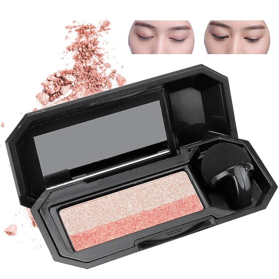 動単独でタールダブルカラーレイジーアイシャドウパレットアイシャドウ 化粧品ツール メイクアップ(2)