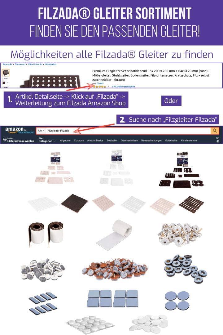 /Ø 24 mm Blanc Filzada/® 40x Patins en feutre /à clouer - Patins de meubles professionnels//Patins de chaise feutre /à clouer