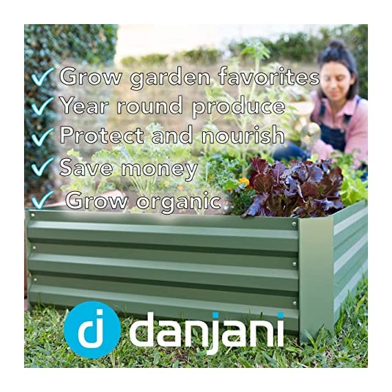 Danjani outdoor raised garden bed with drop over greenhouse - durable, anti-rust steel flower beds - 71. 3 gal planter… 6 perfect for every gardener: whether you're an experienced gardener or as new as freshly grown sprouts, this raised garden bed kit is perfect for you. The planter box makes growing herbs, vegetables and plants easy and stress-free. Enjoy low maintenance with the greenhouse, which provides weather protection, keeping heat and moisture in, and bugs and critters out. Protect and nourish plants: the greenhouse drop over can increase plant yield by providing a warm and nourishing environment to grow in. It also protects from extreme weather, making it possible to grow plants that normally wouldn't fare well in your area. Enjoy year-round fruits and vegetables with the option to grow in the winter. Save money: the rising cost of herbs and produce makes eating healthy an expensive option. But it doesn't have to. Growing your own food can be rewarding, not only for your body and mind but for your wallet too. Have year-round access to some of your favorite fruits, vegetables, and herbs with only the minimal cost of growing them!