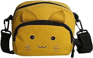 Fanspack Womens Shoulder Bag Canvas Creative Cat Cute Crossbody Bag Mini Coin Purse Bag
