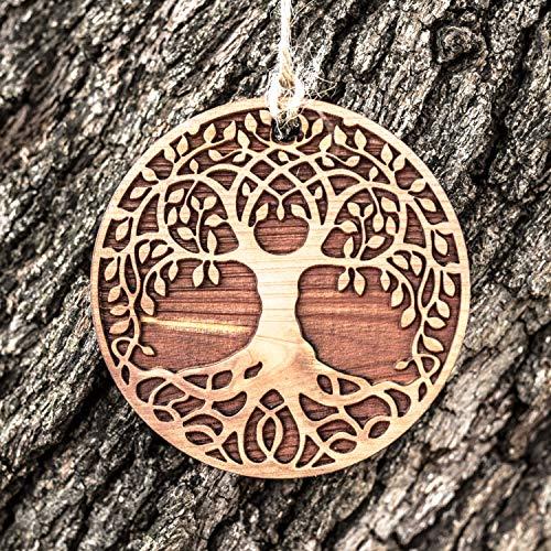 Celtic Tree of Life - Raw Cedar Ornament 3x3in