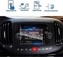 LUOERPI Pantalla de visualización táctil de navegación GPS para Coche 9H película de Protector de Pantalla de Vidrio Templado película Protectora, para Fiat 500L Uconnect 2014-2018