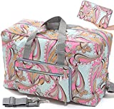 Ladies Women Foldable Travel Duffle Bag - Cute Floral Weekender Overnight Carry-on Bag - Large Hospital Bag (Z-Small Heart)