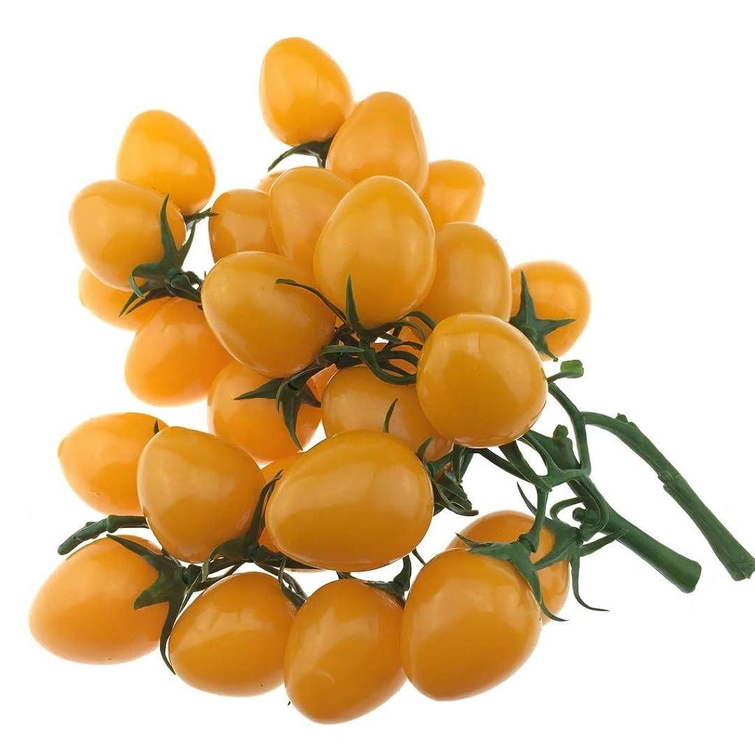 Gresorth2パック模造黄チェリートマトデコレーション人工トマト家キッチンパーティークリスマス展覧会