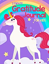 3 Minute Gratitude Journal For Kids: Gratitude & Positive Affirmations Journal For Girls With Prompts Unicorn Princess theme (Journal Writing Self-Help)