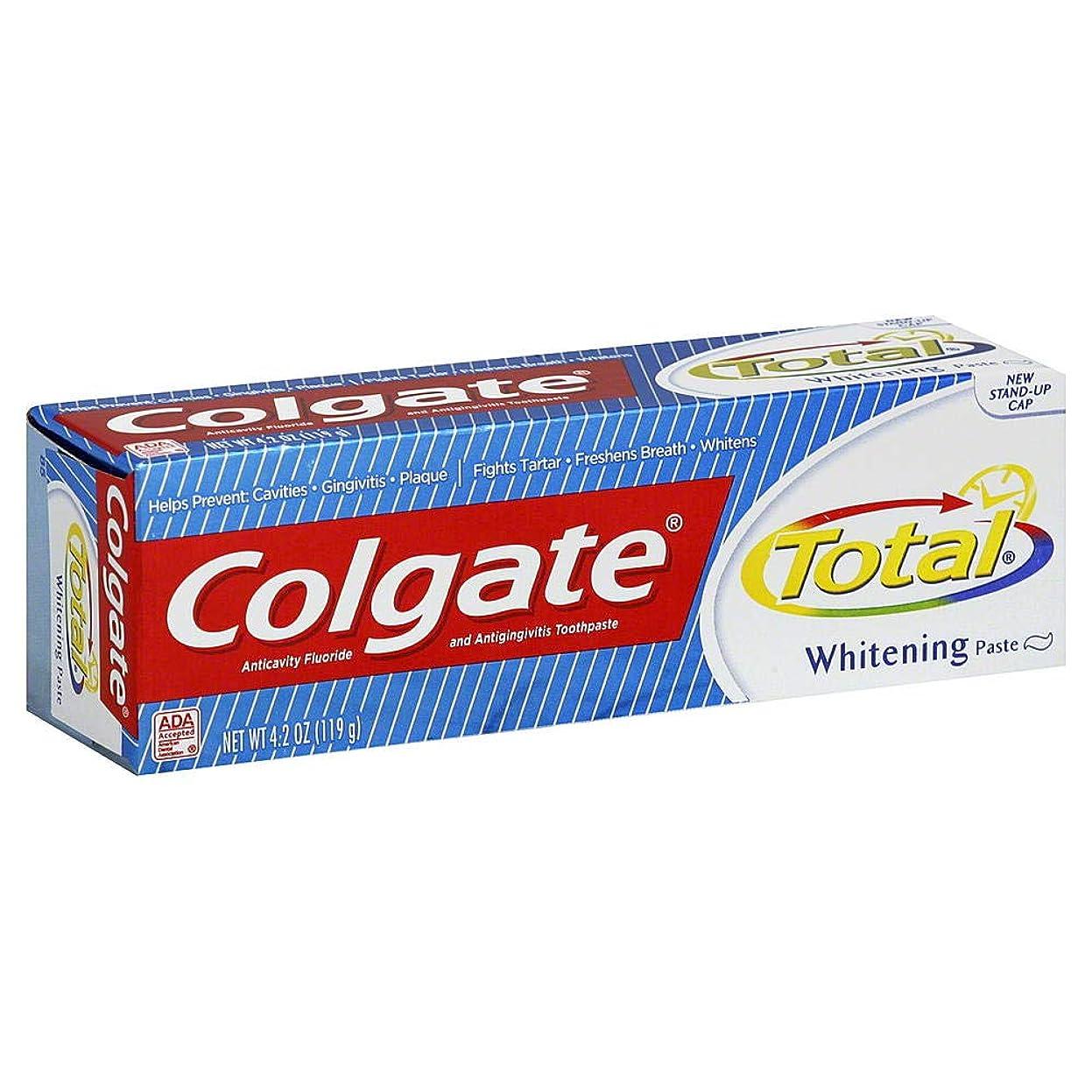 シマウマ巧みな減衰Colgate 総歯磨きプラスホワイトニング貼り付け4.20オズ(4パック) 4パック