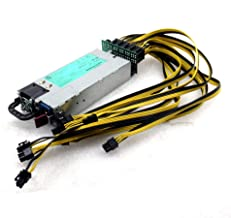1200W 579229-001 Power Supply for GPU Open Rig Mining Ethereum Miner 9 x 6-Pin 1 x 4-Pin