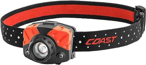 COAST FL75 435 Lumen Dual Color Focusing LED Headlamp with Twist Focus and Reflective Strap