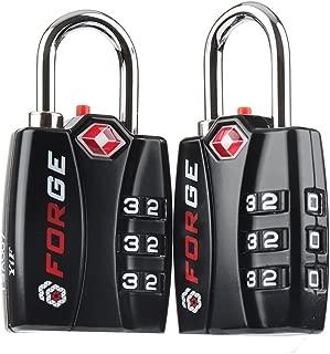 Forge TSA Locks 2 Pack - Open Alert Indicator, Alloy Body for Travel Luggage, Suitcase, Lockers