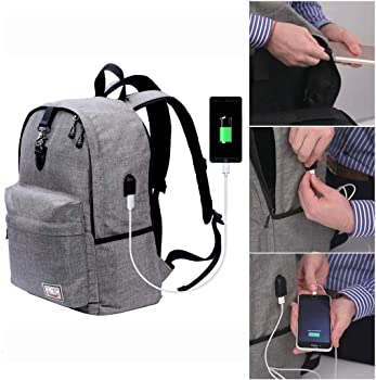 Laptop Backpack, Beyle Travel Computer Bag for Mens & Women, Large College School Bookbag with USB Charging Port Anti...