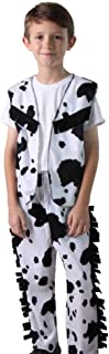 Kids Western Cow Print Cowboy Vest & Chaps Costume Sets (Choose Style and Size)