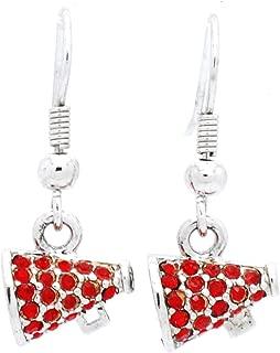 Violet Victoria & Fan Star Megaphone Earrings - Dangle - Cheer Earrings