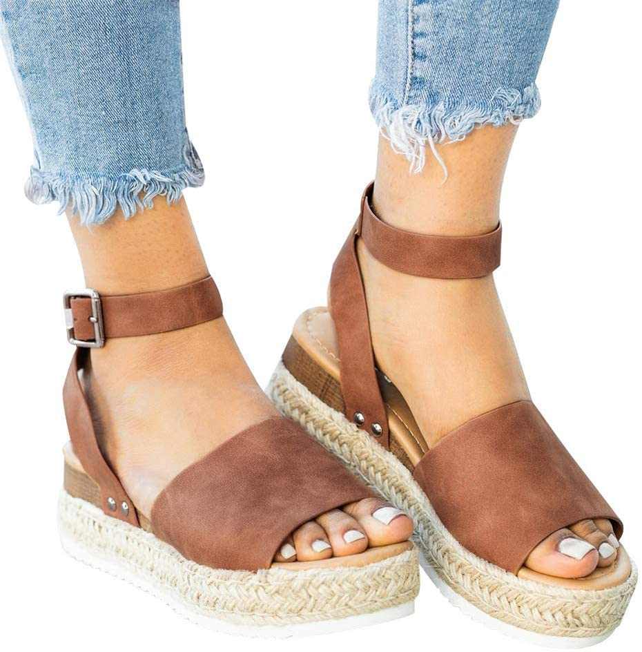 Lightweight Sandals We OFFer at cheap prices shipfree for Women with Strap Beach Cute Summer Wide