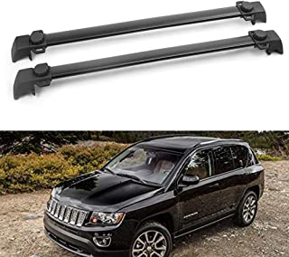 Andifany Roof Rack Rail End Cover 4Pcs Roof Rack Cover Shell Cap Replacement for Land Cruiser Prado Fj120 2003-2007 2008 2009 Car Accessories Black