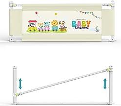 Barrera de cama infantil Minetom, 150 cm, 180 cm, 200 cm, rejilla de protección para la cama, barrera de cama para camas de bebé, universal para todos los colchones Talla:180 CM
