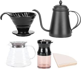 Kaffebryggningssats - Häll över kaffekannans droppuppsättning Kaffebryggare Kvarn Filterpapper Kit Presentförpackning
