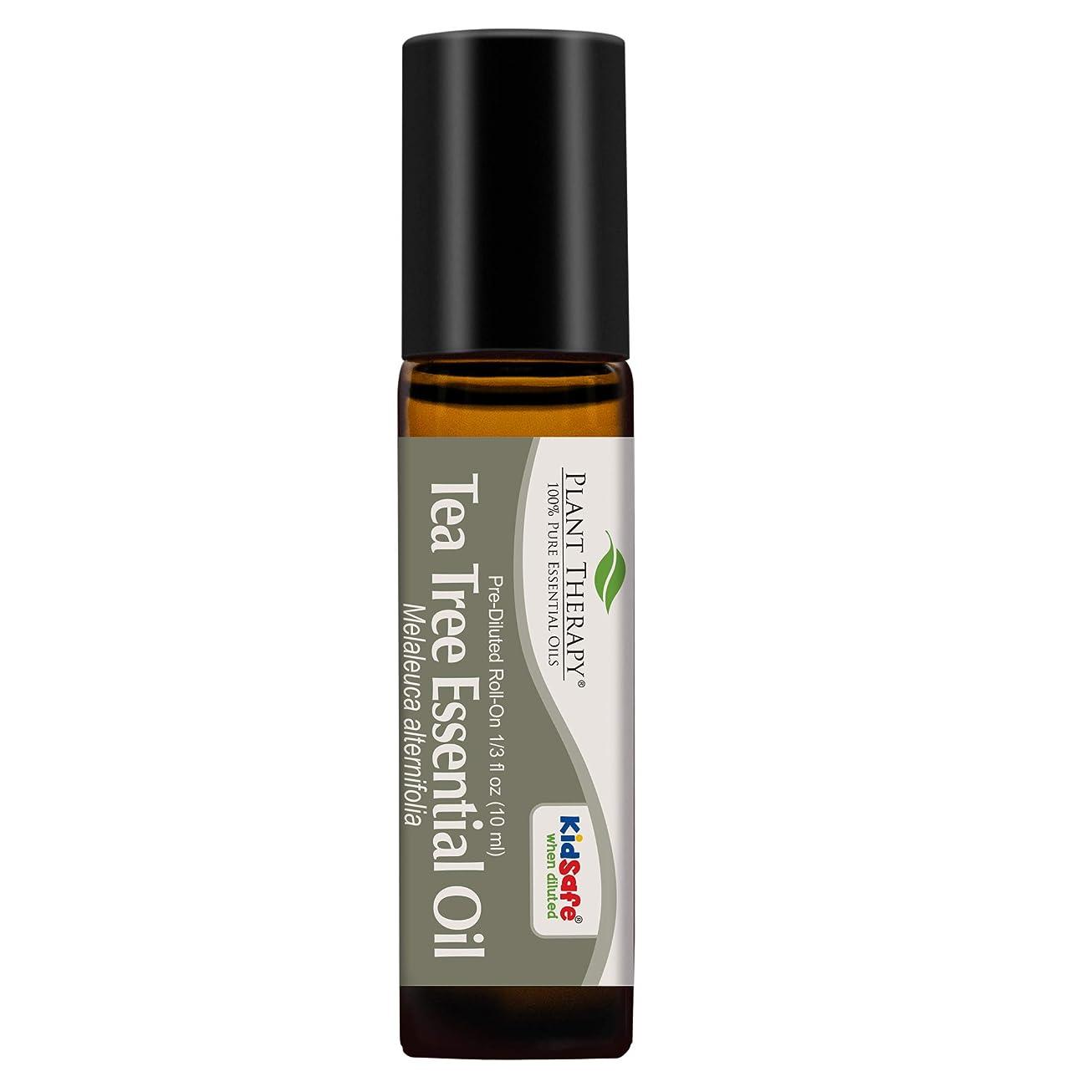 ピアース風景皮Plant Therapy Tea Tree Pre-Diluted Roll-On 10 ml (1/3 fl oz) 100% Pure, Therapeutic Grade