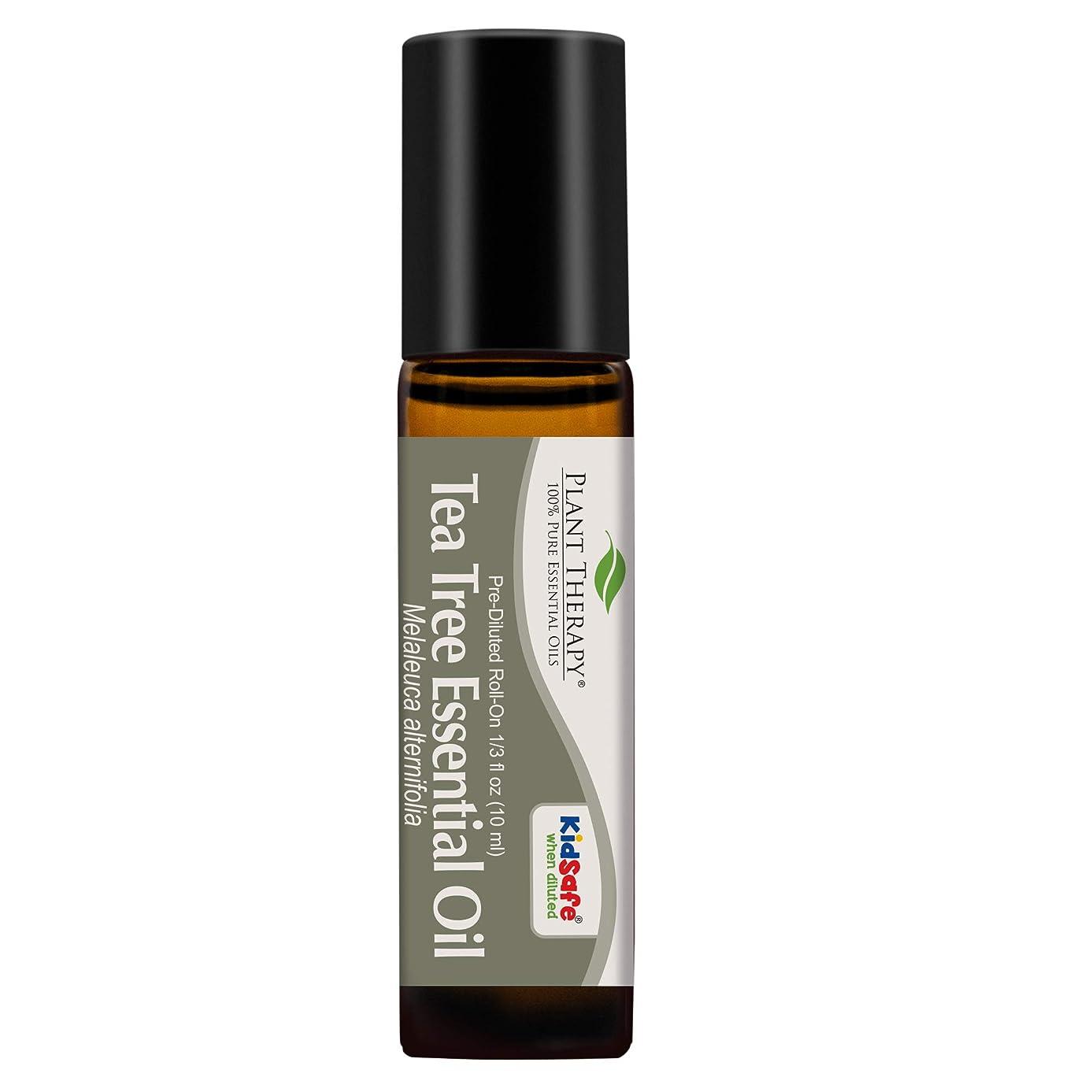 ストリップ借りているしなければならないPlant Therapy Tea Tree Pre-Diluted Roll-On 10 ml (1/3 fl oz) 100% Pure, Therapeutic Grade