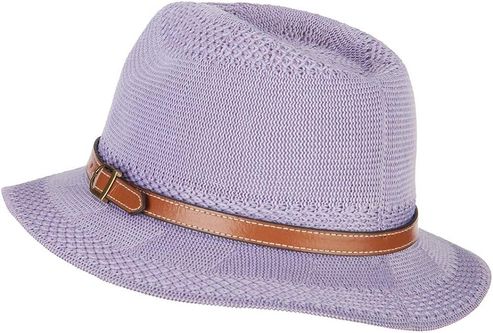 Women's Knitted Panama Short Brim Fedora Hat