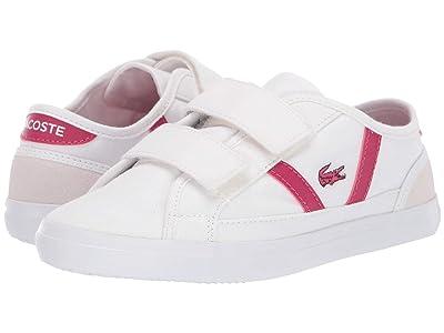 Lacoste Kids Sideline 319 1 (Little Kid) (White/Dark Pink) Kid