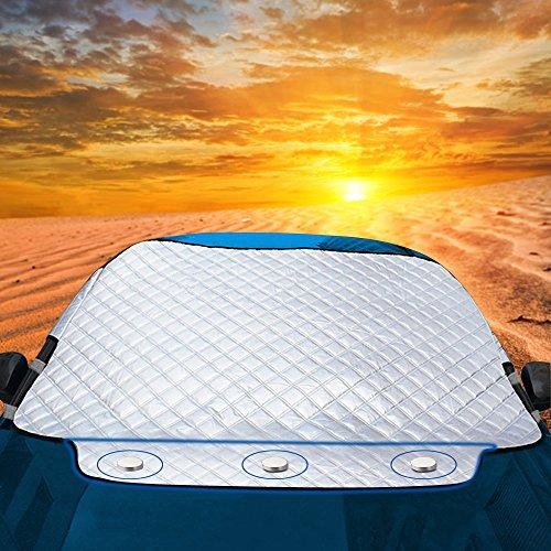 Protezione per Parabrezza Auto, Exqline Copertura per Parabrezza Magnetic Ice Protection Antigelo Antighiaccio Telo Antipioggia Copri Parabrezza Adatto la Maggior Parte dei Veicoli (183 x 116cm)