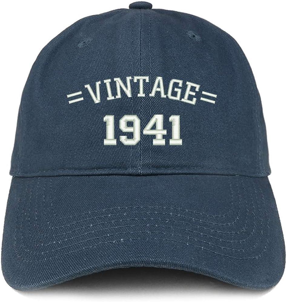 Trendy Apparel Shop Vintage 1941 80th Birthday Baseball Cap