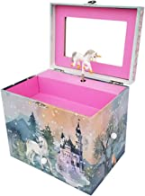 804 Sycamore Majestic Unicorn Music Jewelry Storage Box, Girls Jewelry Storage, Unicorn Castle, Flowers, and Forest, Swan Lake Melody