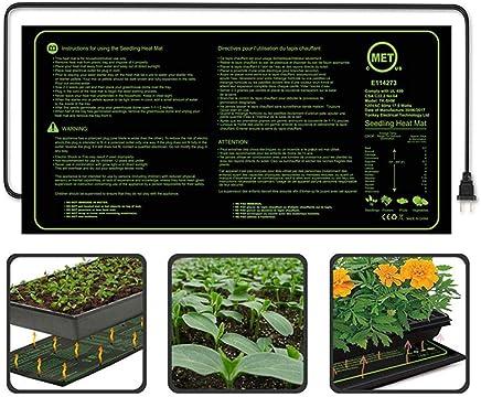 Hamkaw MET Certified Seedling Heat Mat, Durable Waterproof Propagating Heat Pad for Seedling, Seed Starter, Increase Germination Success in Home Garden