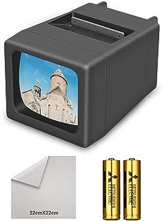 Visionneuse de Diapositives 35 mm éclairée par LED(2 Piles AA incluses)