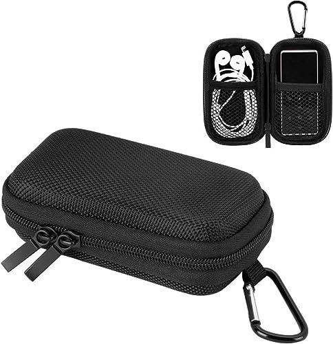 AGPTEK Etui Rigide Nylon pour Ranger et Protéger Mp3(9cm)/Ecouteur/Clé avec Double Filet et Double Zip pour A02/M16 M...