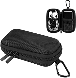 AGPTEK Durable MP3 Player Case, Portable Clamshell Headphones Cover, Holder with Metal Carabiner Clip for MP3 Players, USB...