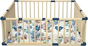 Relaxbx Solid Wood Baby Fence  Baby Play Fence  Home Indoor Baby Crawling Toddler Fence Child Safety Sturdy And Durable Fence For Baby  Toddler  Children  Indoor  Outdoor