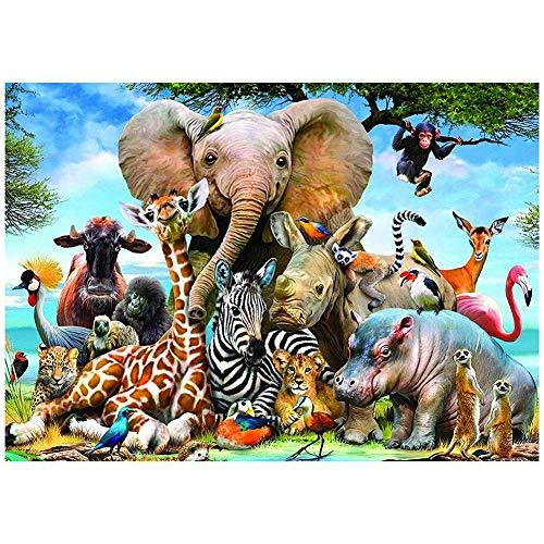 1000 Pièces, Jouets Éducatifs De Puzzle De Paysage Du Monde Animal Pour Des Adullts