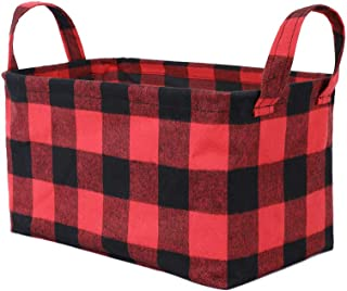 Waterproof Open Storage Basket Buffalo Checked Rectangle Storage Bins Decorative Home Organizing for Shelves Candy Box Gif...